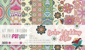 "Pad 12x12"" Papel Tela PFY Boho Wedding Style 8 pcs"