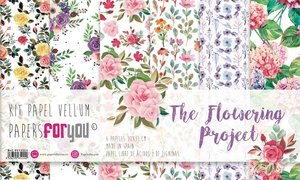 "Pad 12x12"" Vellums Papers For You The Flowering Project 6 pcs"