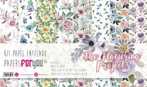 "Pad 12x12"" Papel Tela PFY The Flowering Project 8 pcs"