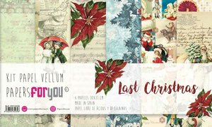 "Pad 12x12"" Vellums Papers For You Last Christmas 6 pcs"
