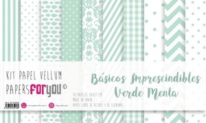 """Pad 12x12"""" Vellums Papers For You Básicos Mint"""