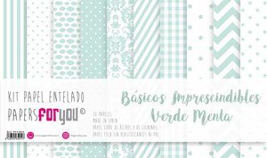 """Pad 12x12"""" Papel Tela Papers For You Básicos Mint"""