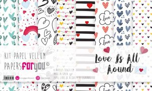"Pad 12x12"" Vellums Papers For You Love is all Around"