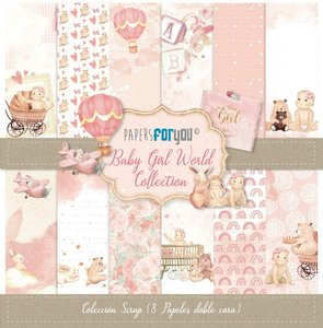 """Pad 12x12"""" Papers For You Baby Girl World 8 pcs"""