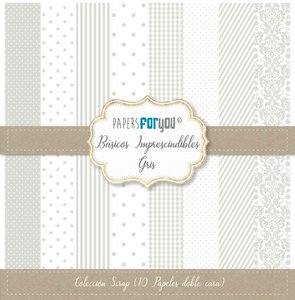 """Pad 12x12"""" Papers For You Básicos Imprescindibles Gris"""