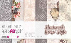 """Pad 12x12"""" Vellums Papers For You Steampunk Retro Style"""