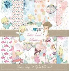 """Pad 12x12"""" Papers For You Fairies Land 10 papeles"""