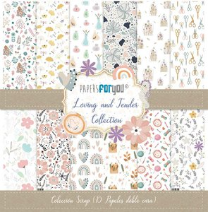 """Pad 12x12"""" Papers For You Loving and Tender 10 papeles"""