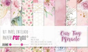 """Pad 12x12"""" Papel Tela Papers For You Our Tiny Miracle 8 papeles"""