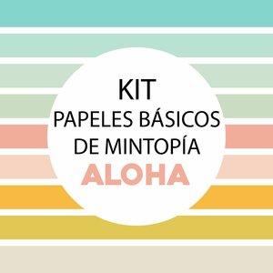 Kit de papeles básicos Mintopía coordinados con Aloha