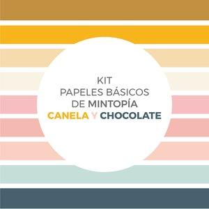 Kit de papeles básicos Mintopía coordinados con Canela