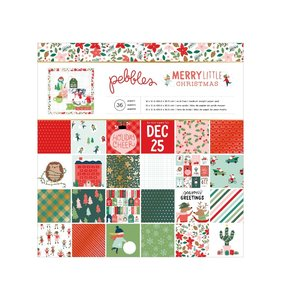"Stack 12""x12"" con foil Merry Little Christmas"