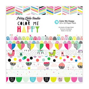 Pretty Little Studio Pack Color Me Happy 12x12""