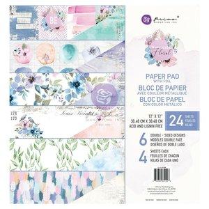 "Stack 12x12"" col. Watercolor Floral de Prima"