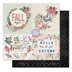 "Papel 12x12"" col. Hello Pink Autumn de Prima Fall Hugs"