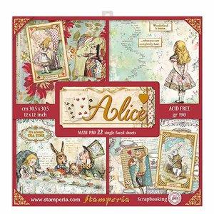 """Pad especial 12x12"""" Stampería Alice Gold 22 hojas"""