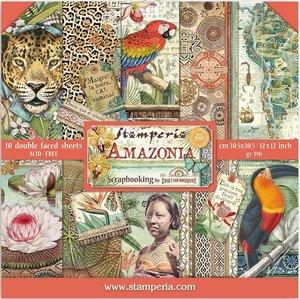 """Pad 12x12"""" Stampería Amazonia by Cristina Radovan"""