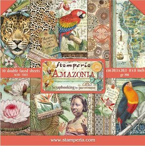 """Pad 8x8"""" Stampería Amazonia by Cristina Radovan"""
