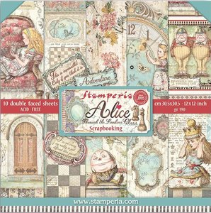 """Pad 12x12"""" Stampería Alice Through the Looking Glass"""