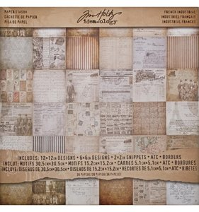 """Stack 12x12"""" Tim Holtz French Industrial"""