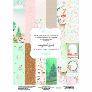 Pad de papeles A4 y die cuts DP Crafts Magical Forest