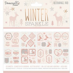 "Pad 8x8"" de die cuts pretroquelados Dovecraft Winter Sparkle"