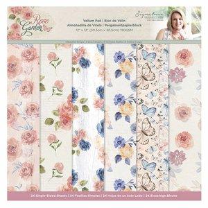 "Pad Vellums 12x12"" Sara Signature Col. Rose Garden 24 hojas"
