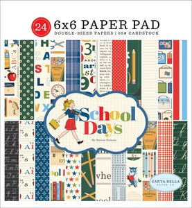 "Pad 6x6"" Carta Bella School Days"