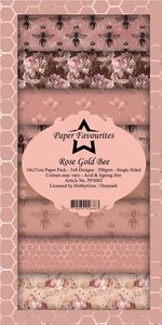 Pad papeles Paper Favourites 10x21 cm Rose Gold Bee