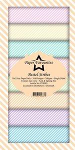 Pad papeles Paper Favourites 10x21 cm Pastel Stribes