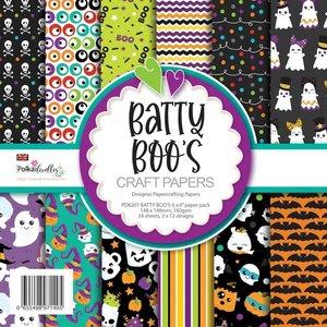 """Pad 6x6"""" Polkadoodles Batty Boos Halloween"""