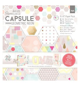 "Capsule Geometric Neon Pad 6""x6"""