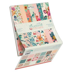 "Stack Docrafts 6x6"" 36 papeles Bluebirds & Roses"