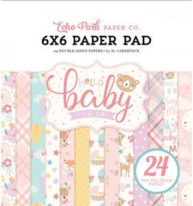 "Hello Baby Girl Pad 6""x6"""