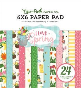 "I Love Spring 6x6"" Paper Pad"