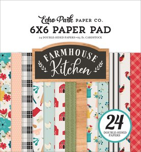 "Pad 6x6"" Echo Park Farmhouse Kitchen"