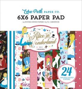 """Pad 6x6"""" Echo Park Alice in Wonderland v2"""