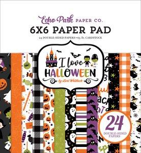 "Pad 6x6"" Echo Park I Love Halloween"
