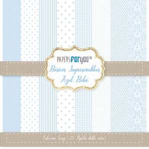 Pad 6x6 Básicos Azul Bebé 25 papeles