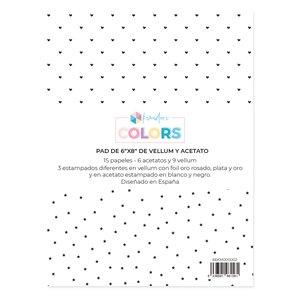 """Pad de papeles especiales 6""""x8"""" acetatos y vellums Kimidori Colors"""
