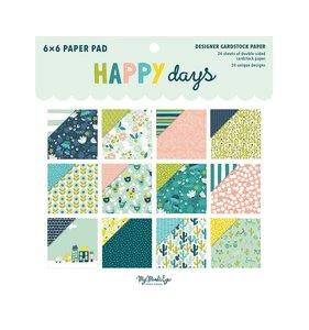 Pad 6x6 My Mind's Eye Happy Days