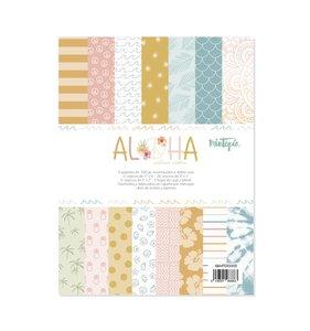 """Pad 6""""x8"""" tarjetas y cut outs Aloha de Mintopía"""