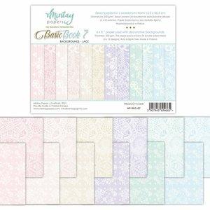 "Pad 6""x8"" Mintay Basics Backgrounds Lace"