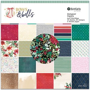 "Pad 6""x6"" Bows and bells"