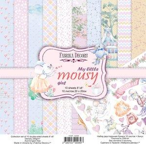 """Pad Fabrika Decoru 8x8"""" My Little Mousy Girl"""