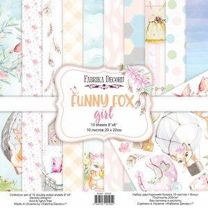 "Pad Fabrika Decoru 8x8"" Funny Fox Girl"