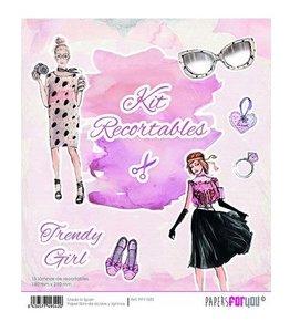 Kit recortables Trendy Girl