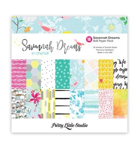 "Kit papeles 8""x8"" estampados a doble cara Savannah Dreams"
