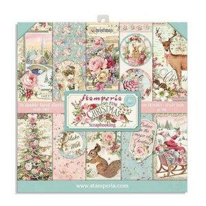 "Pad 8x8"" Stampería Christmas Pink"