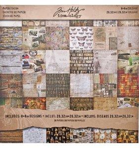 """Stack 8x8"""" Tim Holtz Collage"""